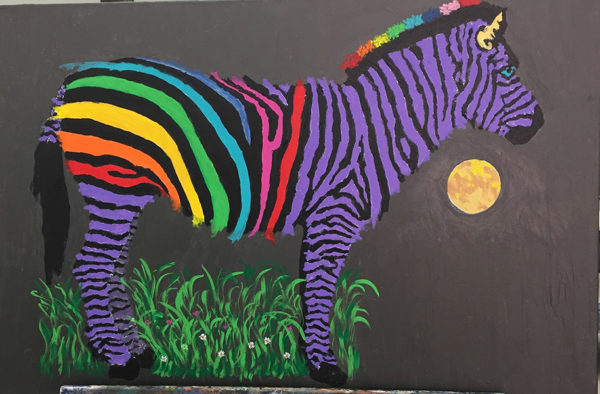 neon zebra